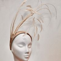 A Gold Biscuit Dramatic Fascinator - SN740